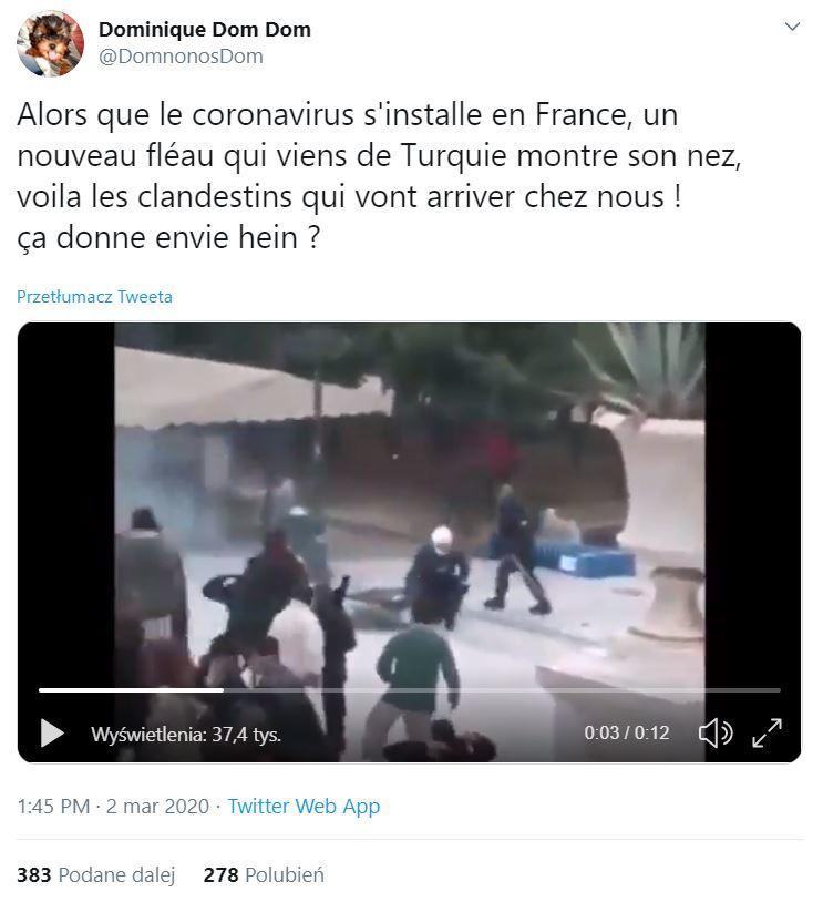 Film dokumentujący atak na policjanta udostępniony na Twitterze