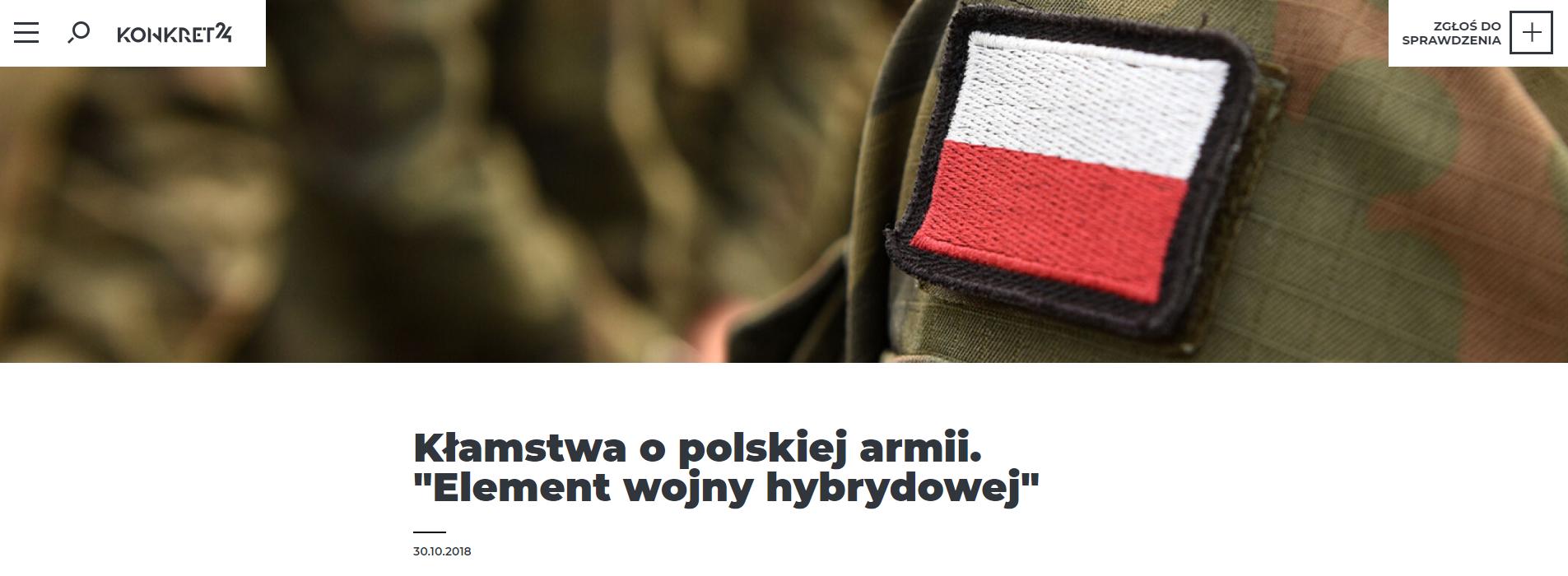 Nasz artykuł o nieprawdziwych słowach litewskiego wojskowego