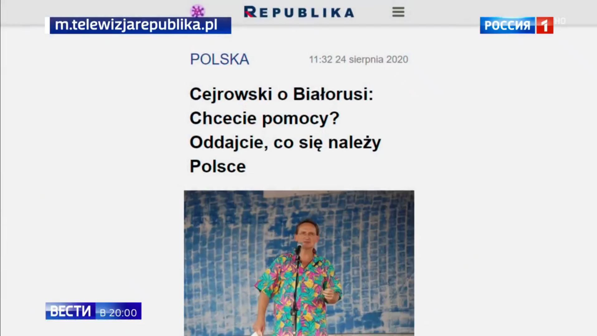 Fragment materiału z omówieniem wypowiedzi Wojciecha Cejrowskiego