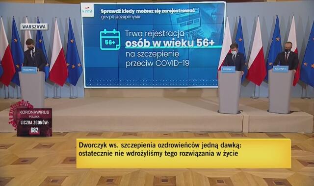 Dworczyk o planowanych dostawach szczepionek Pfizera do Polski