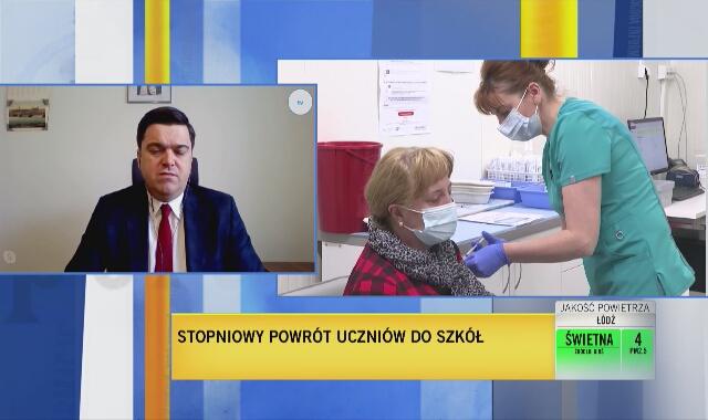 Andrusiewicz: ostatniej doby zwolniliśmy 18 tysięcy terminów na szczepienia pacjentów majówkowych