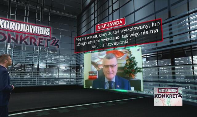 """""""Nie ma wirusa, który został wyizolowany, więc nie ma celu dla szczepionki""""? Dr Grzesiowski tłumaczy"""